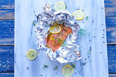 no fuss baked salmon parcels