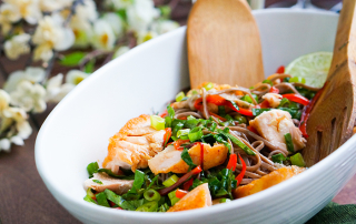 Asian-style salmon salad recipe