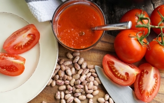 Borlotti Beans and Tomato Sauce