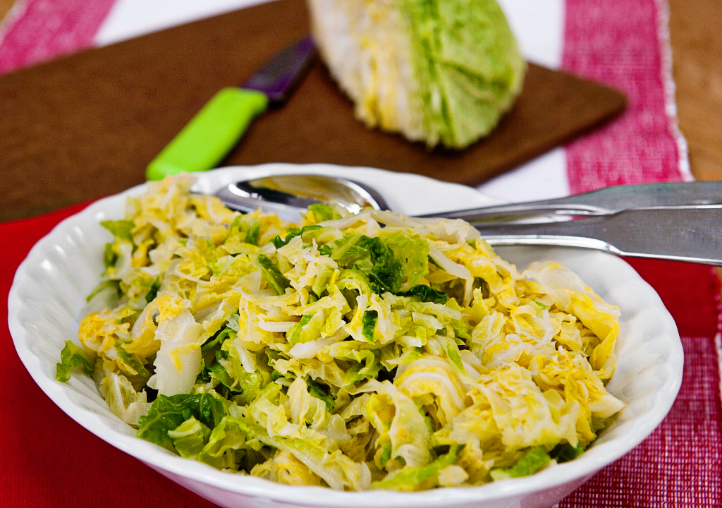 Buttered Savoy Cabbage Lemon Squeezy