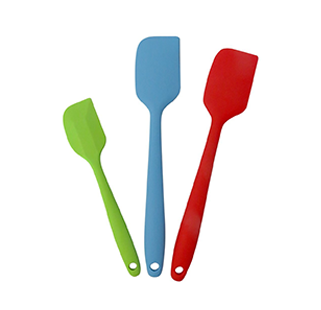 Evelots Set Of 3 Solid Silicone Spatulas, Heat Resistant Utensils, Multicolor