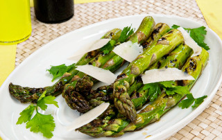 Griddled asparagus recipe