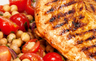 Harissa chicken breasts with chickpeas