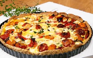 Mediterranean veggie tart recipe