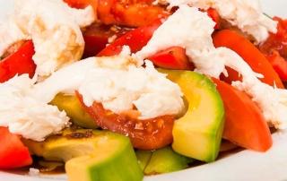 Mozzarella Avocado and Tomato Salad