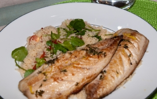 Panfried mackrel fillets