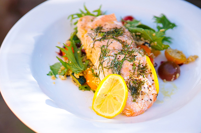 Salmon in citrus sauce