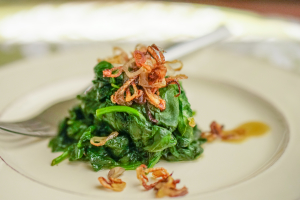 Sauteed Spinach and Shallots 2
