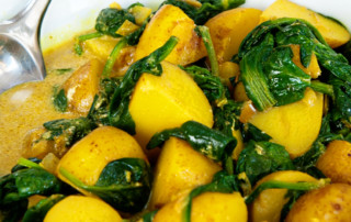 Spinach and new potato curry recipe 4A