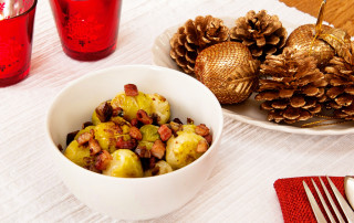 Sprouts with pancetta and chestnuts recipe