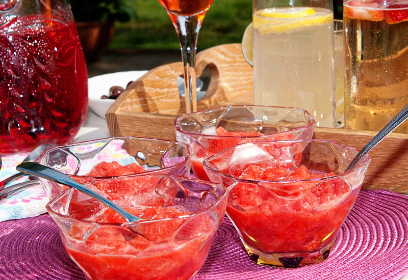 Strawberry granita - Lemon Squeezy