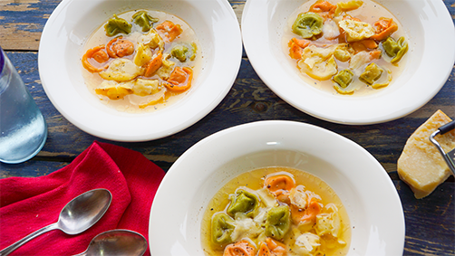 Tortellini Soup with Handmade Broth