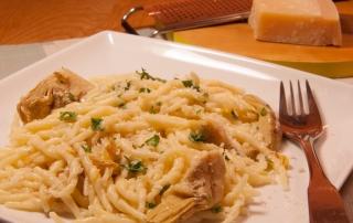 Trofie with artichokes and lemon recipe