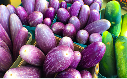 aubergines or eggplants