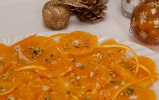 carpaccio of oranges with orange brandy