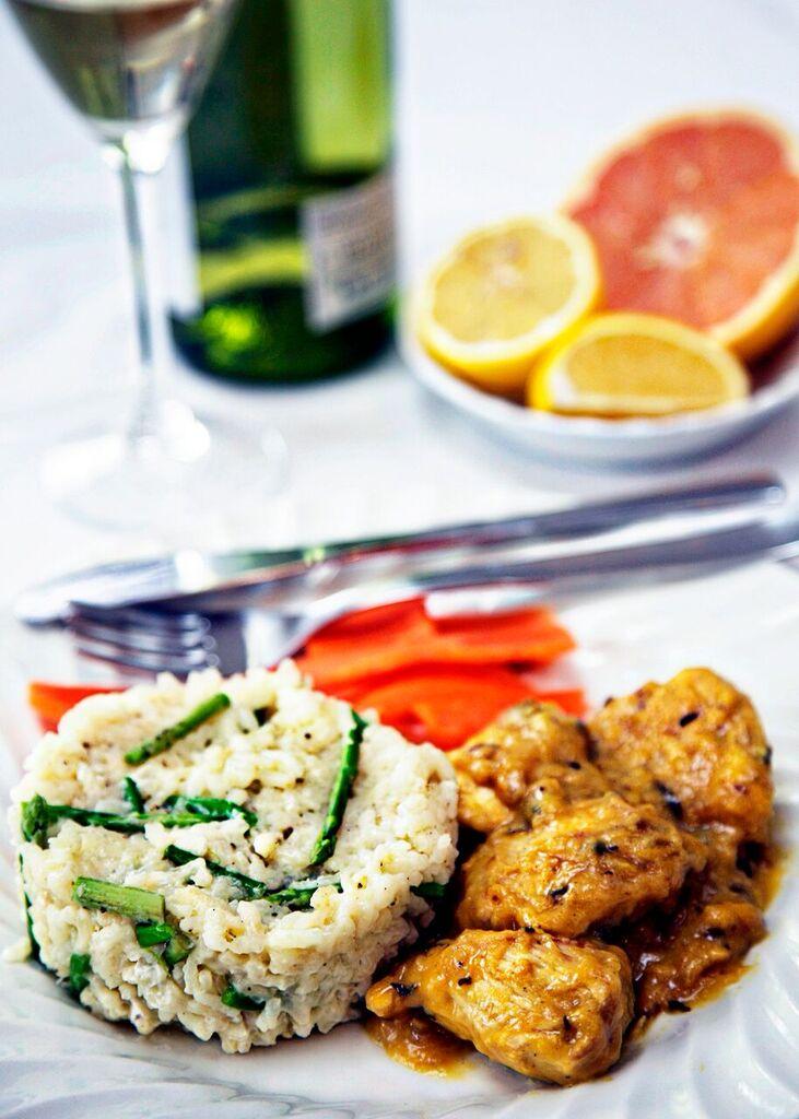 chicken in a citrus sauce