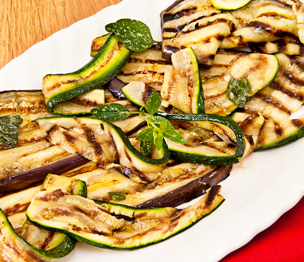 griddled aubergine and courgette salad recipe 4