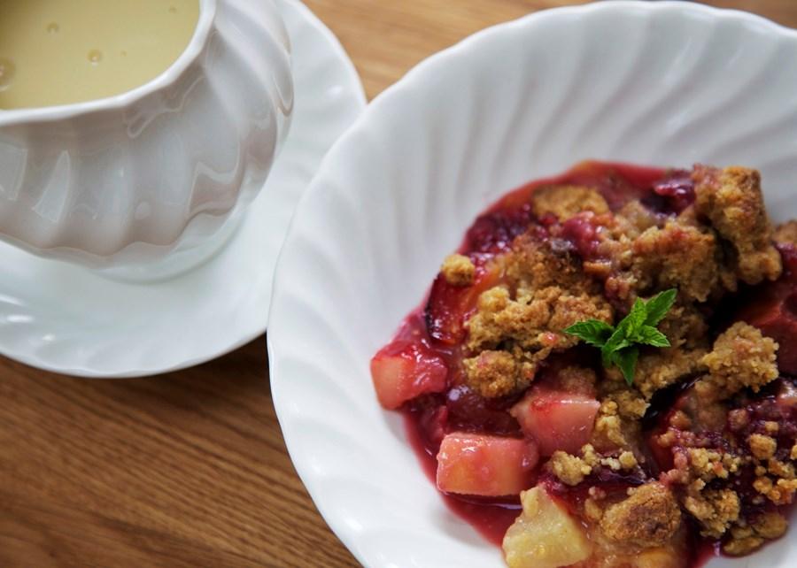 maple plum crumble recipe