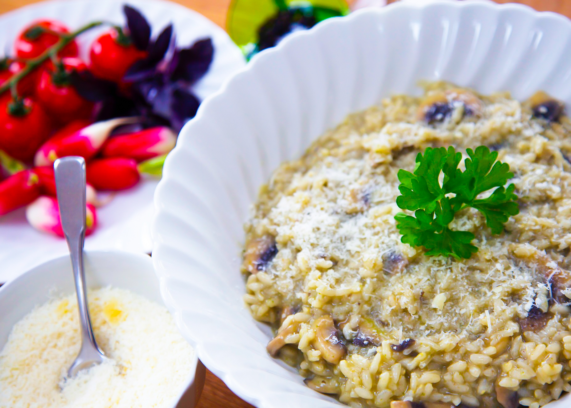 healthy risotto with mushrooms recipe