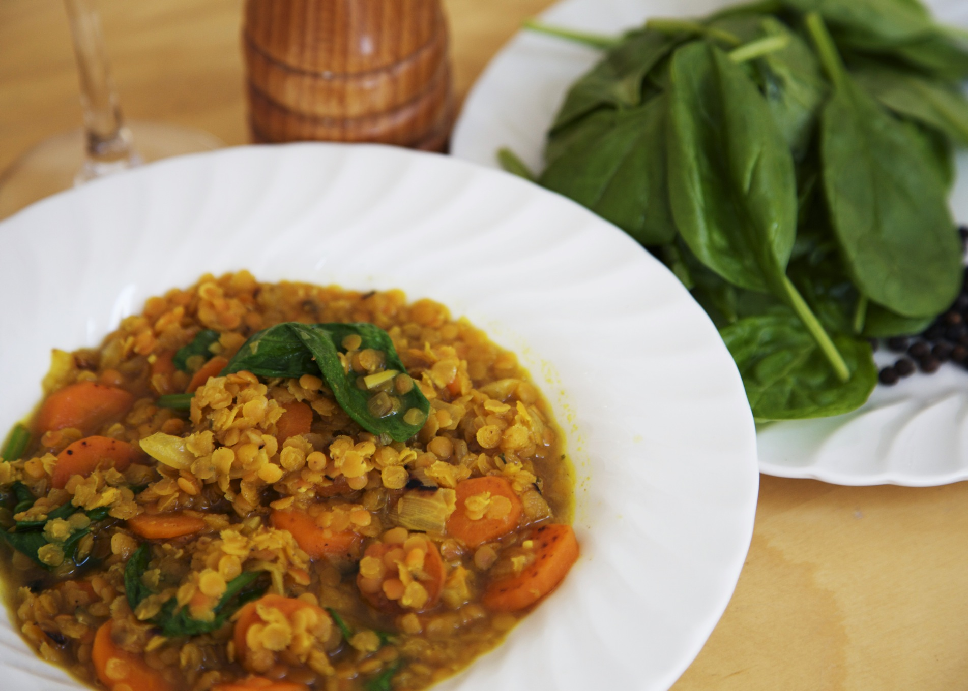 spiced root and lentil casserole