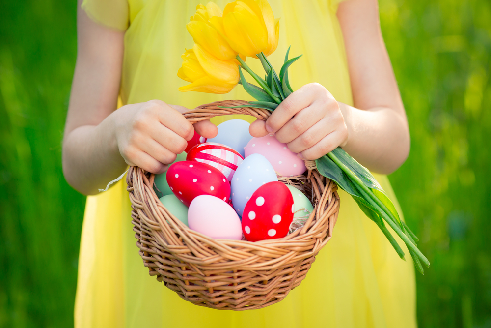 Girl with Easter Eggs, Mothering Sunday Brunch Ideas